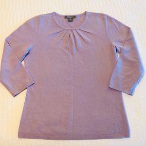 Ann Taylor CASHMERE jewel-neck sweater Medium